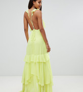 Asos DESIGN Tall ruffle maxi dress with strappy back