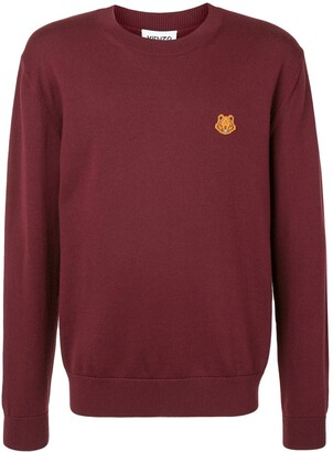 Kenzo Tiger embroidered crew neck jumper
