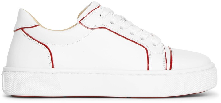 Christian Louboutin Vierissima white red sneakers
