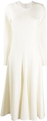 Jil Sander Knitted Flared Long Dress