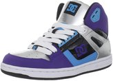 DC Women's Rebound Hi Sneaker,Black/White/Velvet/Purple
