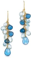 Bloomingdale's Blue Topaz Drop Earrings in 14K Yellow Gold