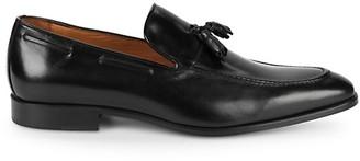 Massimo Matteo Leather Tassel Loafers