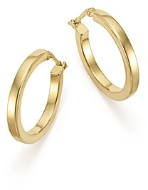Bloomingdale's 14K Yellow Gold Square Tube Hoop Earrings - 100% Exclusive