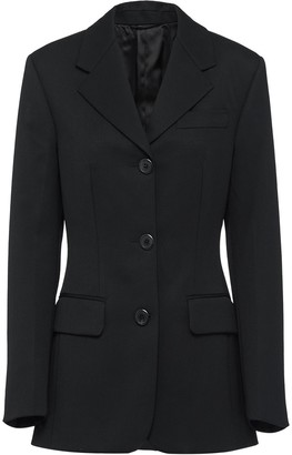 Prada fitted single breasted blazer