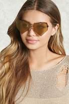 Forever 21 Rimless Heart Sunglasses