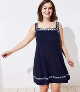 LOFT Plus Embroidered Criss Cross Back Dress