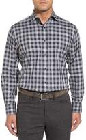 Thomas Dean Men's Classic Fit Check Sport Shirt