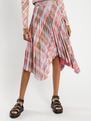 C/Meo Response Skirt in Pink Tartan