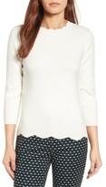 Halogen Women's Scallop Edge Sweater