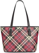 Giani Bernini Plaid Saffiano Tote, Created for Macy's