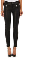 J Brand Women's Emma Leather Skinny Jeans-BLACK