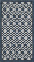 Safavieh Courtyard Collection CY6902-268 Navy and Beige Indoor/Outdoor Area Rug, 2-Feet 7-Inch by 5-Feet