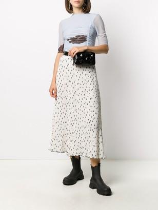 Ganni Polka Dot Midi Skirt