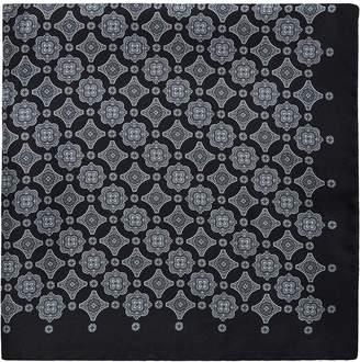 Reiss Jordan - Silk Pocket Square in Black/grey