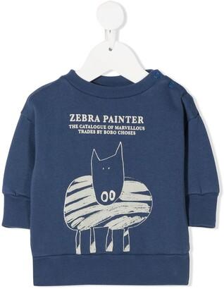 Bobo Choses Zebra Painting sweatshirt