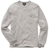 Todd Snyder Cashmere T-Shirt Sweater in Grey Stripe