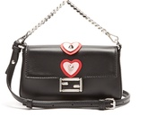 Fendi Micro Baguette heart-appliqué cross-body bag