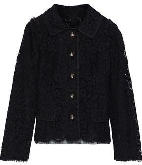 Dolce & Gabbana Button-detailed Cotton-blend Corded Lace Jacket