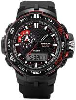YLJHCYGG Large Dual Dial Analog Digital Quartz Electronic Wrist Watches For boys watch 10 years +Red