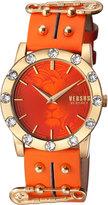 Versus By Versace Miami Crystal Round 40mm Women's Watch, Golden/Orange