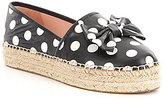 Kate Spade Linds Polka Dot Print Bow Detail Slip-On Espadrilles