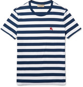 Burberry Slim-fit Striped Cotton-jersey T-shirt - Navy