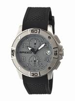 Breed Raylan Chronograph Grey Diamond Pattern Dial Black Silicone Men's Watch