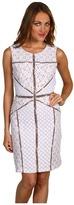 BCBGMAXAZRIA - Andreea Blocked Lace Shift Dress