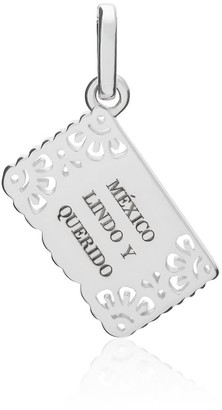 Tane Exquisitely Detailed Mexico Lindo Y Querido Beloved Mexico Charm Handmade In Sterling Silver