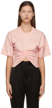 Y/Project Pink Ruched Corset T-shirt
