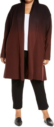 Eileen Fisher Ombre Boiled Wool Coat