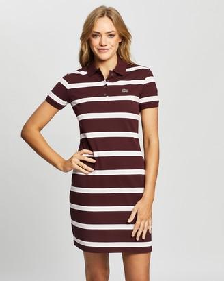 Lacoste Classic Stripe Mini Pique Polo Dress