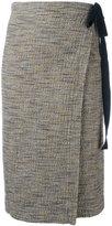 Humanoid wrap skirt - women - Cotton/Polyamide/Elastolefin - M