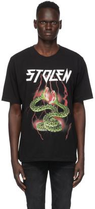 Stolen Girlfriends Club SSENSE Exclusive Black Lightning T-Shirt