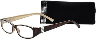 Select A Vision SAV Eyewear (Select-A-Vision) Victoria Klein Crystals Fashion Rectangular Reading Glasses 9092R Demi 1.25