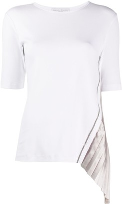 Fabiana Filippi pleated insert T-shirt