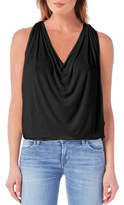Michael Stars Women's Drape Neck Jersey Top