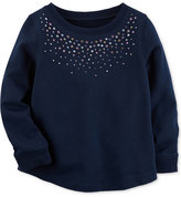Carter's Rhinestone Cotton Shirt, Toddler Girls (2T-4T)