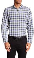 Toscano Long Sleeve Regular Fit Button Up Check Shirt