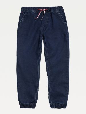 Tommy Hilfiger Adaptive Denim Knit Slim Fit Joggers