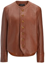 Joseph Bubble Leather Orlan Jacket in Tan