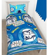 Disney Star Wars Classic 'Doodle' Single Duvet Set - Repeat Print Design