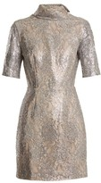 Emilia Wickstead Pearl Floral-lace Mini Dress - Womens - Silver