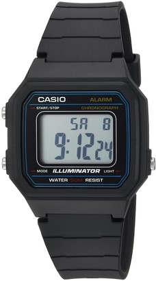 Casio Men's 'Classic' Quartz Resin Casual Watch Color:Black (Model: W-217H-1AVCF)