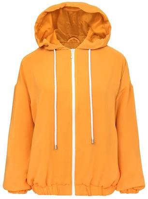 Blonde Gone Rogue Bonfire Sustainable Bomber Jacket Orange