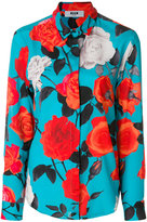 MSGM photographic floral print shirt