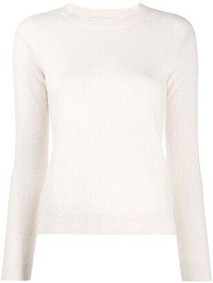 Majestic Filatures Long-Sleeved Ribbed Knit Sweater