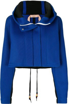 No.21 Cropped Hooded Jacket