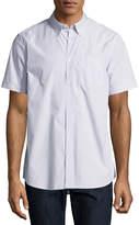 Wesc Nadim Striped Short-Sleeve Sport Shirt, Ballad Blue